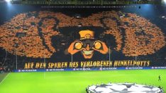 Borussia Dortmund – Malaga Maçı Müthiş Tribün Şovu.